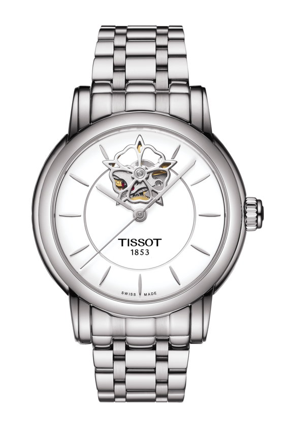 Tissot-Lady-Heart-Automatic-White-Dial-Stainless-Steel-Ladies-T050.207.11.011.04-(T0502071101104)