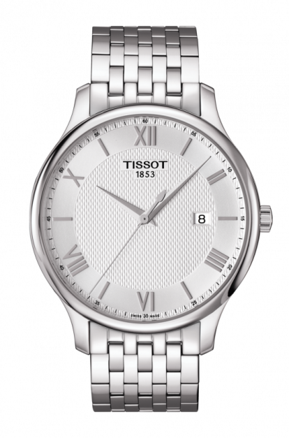 Tissot-Tradition-Silver-Dial-Stainless-Steel-Mens-T063.610.11.038.00-(T0636101103800)