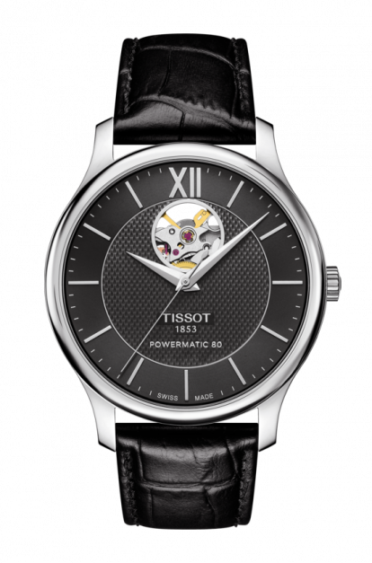 Tissot-Tradition-Automatic-Black-Dial-Mens-T063.907.16.058.00-(T0639071605800)