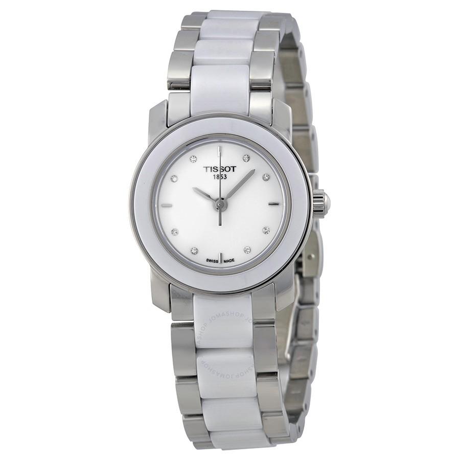 Tissot-T-Trend-Cera-White-Ceramic-Diamond-Ladies-T064.210.22.016.00-(T0642102201600)