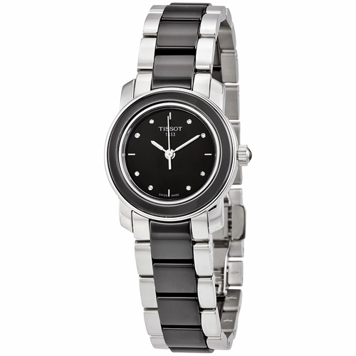 Tissot-T-Trend-Black-Ceramic-Diamond-Ladies-T064.210.22.056.00-(T0642102205600)