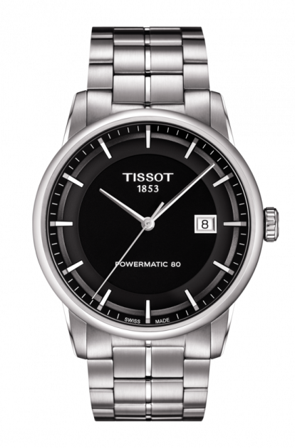 Tissot-T-Classic-Powermatic-80-Automatic-Black-Dial-Stainless-Steel-Mens-T086.407.11.051.00-(T0864071105100)