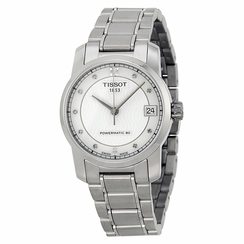 Tissot-T-Classic-Titanium-Automatic-Mother-of-Pearl-Dial-Ladies-T087.207.44.116.00-(T0872074411600)