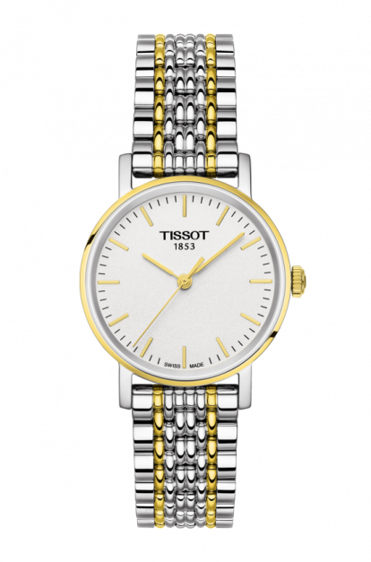 Tissot-T-Classic-Everytime-White-Dial-Ladies-Two-Tone-T109.210.22.031.00-(T1092102203100)