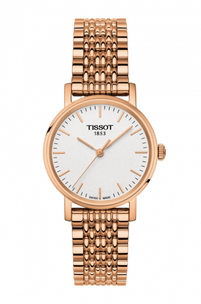 Tissot-Everytime-Small-White-Dial-Ladies-Rose-Gold-Tone-T109.210.33.031.00-(T1092103303100)