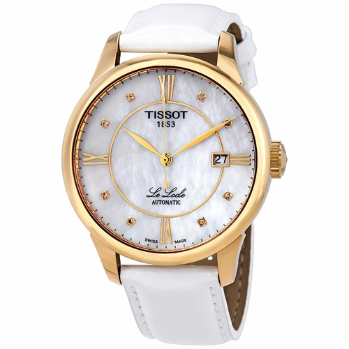 Tissot-Le-Locle-Automatic-Mother-of-Pearl-Diamond-Dial-Ladies-T41.5.453.86-(T41545386)
