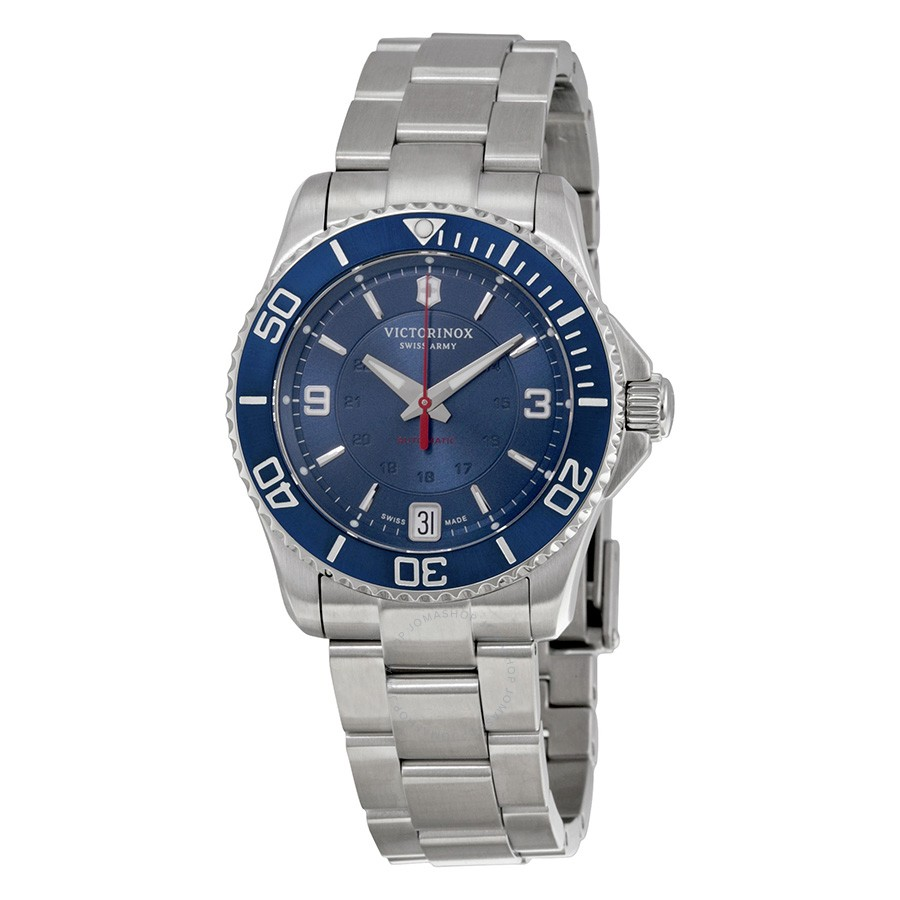 Victorinox-Swiss-Army-Maverick-Mechanical-Blue-Dial-Stainless-Steel-Ladies-241709