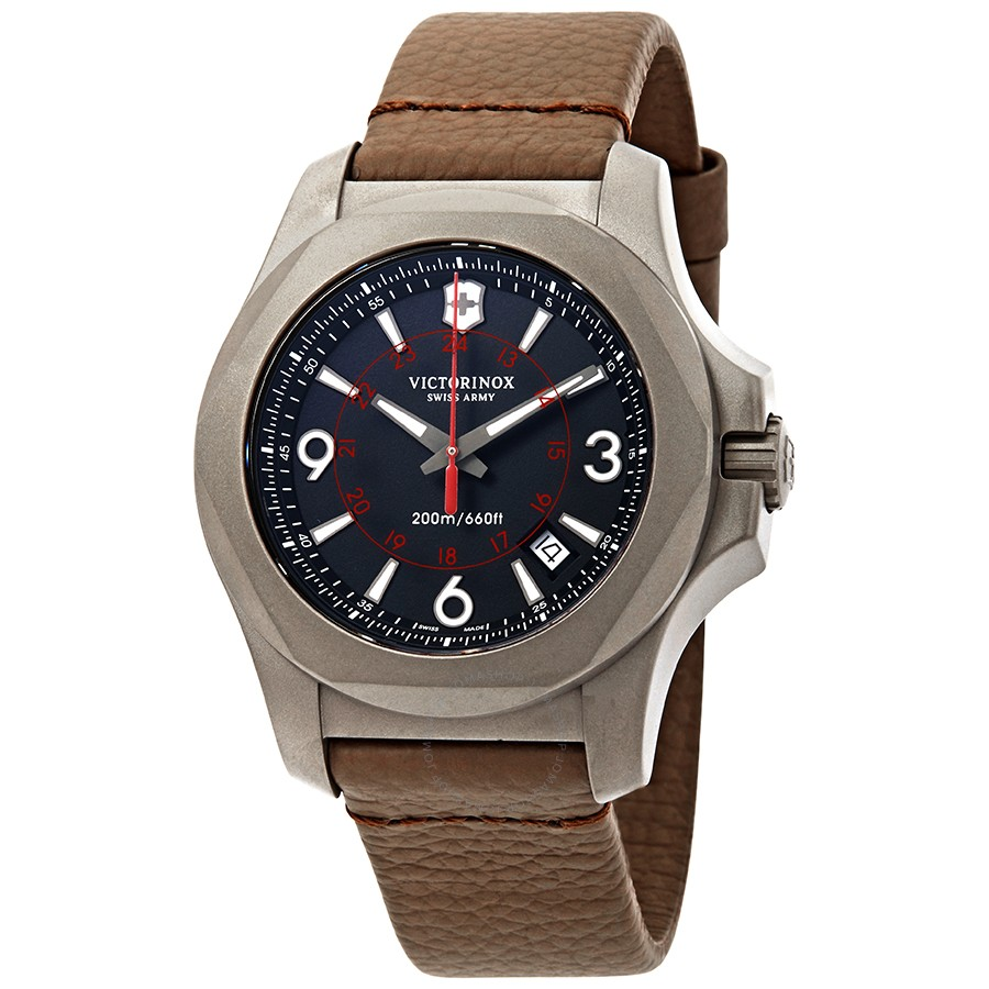 Victorinox-I.N.O.X.-Black-Dial-Brown-Leather-Mens-241778