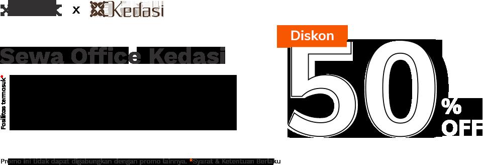 Sewa Office Kedasi Diskon 50% Banner