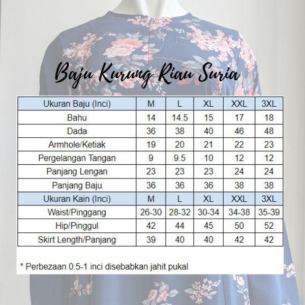 Baju Kurung Riau Bercorak Suria06 Merah Hati 12