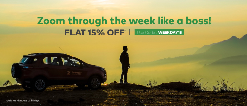 <b><i>FLAT 15% OFF</i></b> on all Weekday bookings from Hadapasar, Pimple Saudagar and Hinjewadi sites!