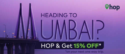 <br>15% OFF on all One-way bookings to Mumbai!