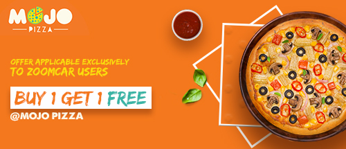 Buy One and Get one Free at MOJO Pizza, exclusively for Zoomcar users!