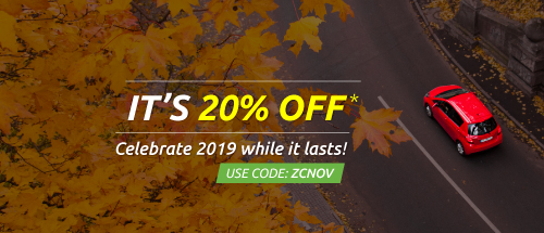 Get Flat 20% off on your zoomcar drive