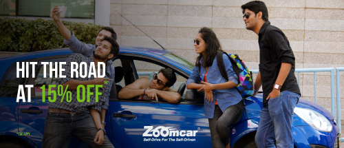 Book a Zoomcar more than 24 hours, and get 15% off. Valid on all cars!
