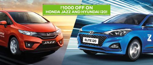 15% off on booking Hyundai I20 Elite or Jazz SMT 1.5 IDTEC !!