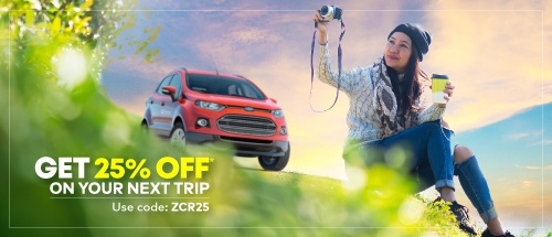 <b>25% OFF on Zoomcar booking(&nbsp;FLAT 10% Instant Discount&nbsp;</b>+&nbsp;<b>FLAT 15% Cashback)</b>