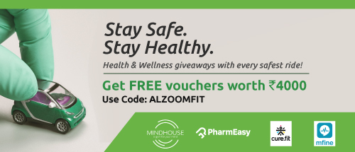 Discounts from Pharmeasy, Mindhouse, Curefit & mfine.