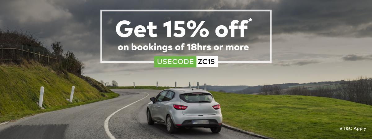 Apply code <b>ZC15 </b>during checkout to avail offer