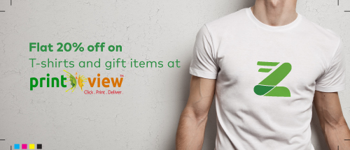 Get flat 20% off on T-shirt and gift items.