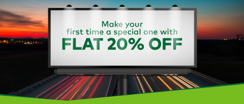 Now get 20% discount on your first Zoomcar ride !!
