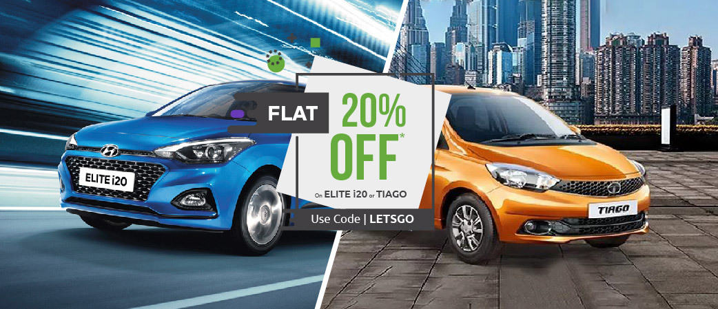 Get 20% off on select car categories
