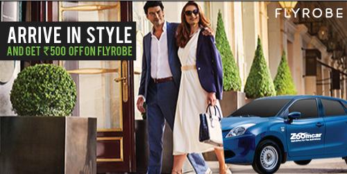 Flyrobe tie up during wedding season. Rs. 500 off on menswear<br><br>