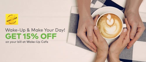 flat 15% Off on your Bill