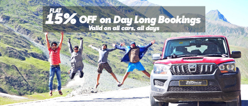 Rent a Zoomcar for 24 hours or more, and get flat 15% off. Valid on all days, all cars