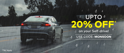 Get 20% off upto Rs.1200/- on your weekday ride this monsoon.
