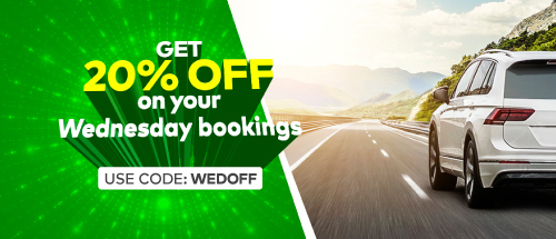 Get 20% off on your Wednesday Zoomcar ride in Ahmedabad !!&nbsp;<br><br>Use Code:<b>&nbsp;WEDOFF</b>