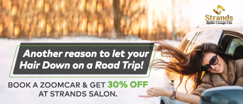 Book A Zoomcar and Get 30% off at strands salon - Chandigarh