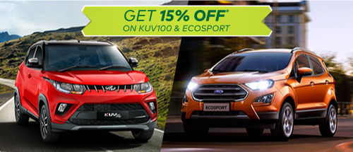 15% OFF on Ecosport and KUV100!