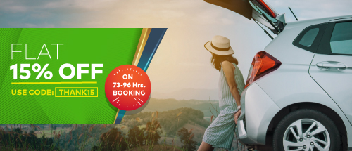 Get Flat 15% Off on 72-96 hr bookings