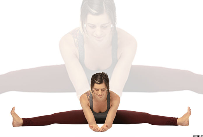Seated wide angle forward bend for Does Yoga Really Help in Sexual Wellness