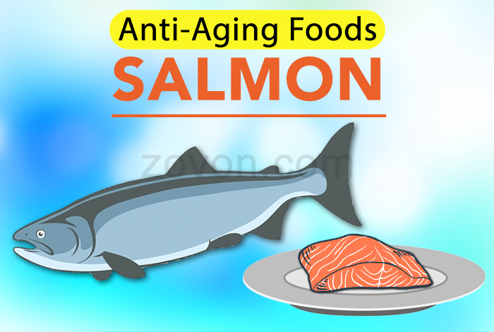 Salmon to prevent aging