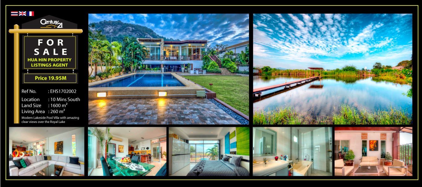 Modern Lakeside 4 Bed Pool Villa with Amazing Clear Views over the ...
