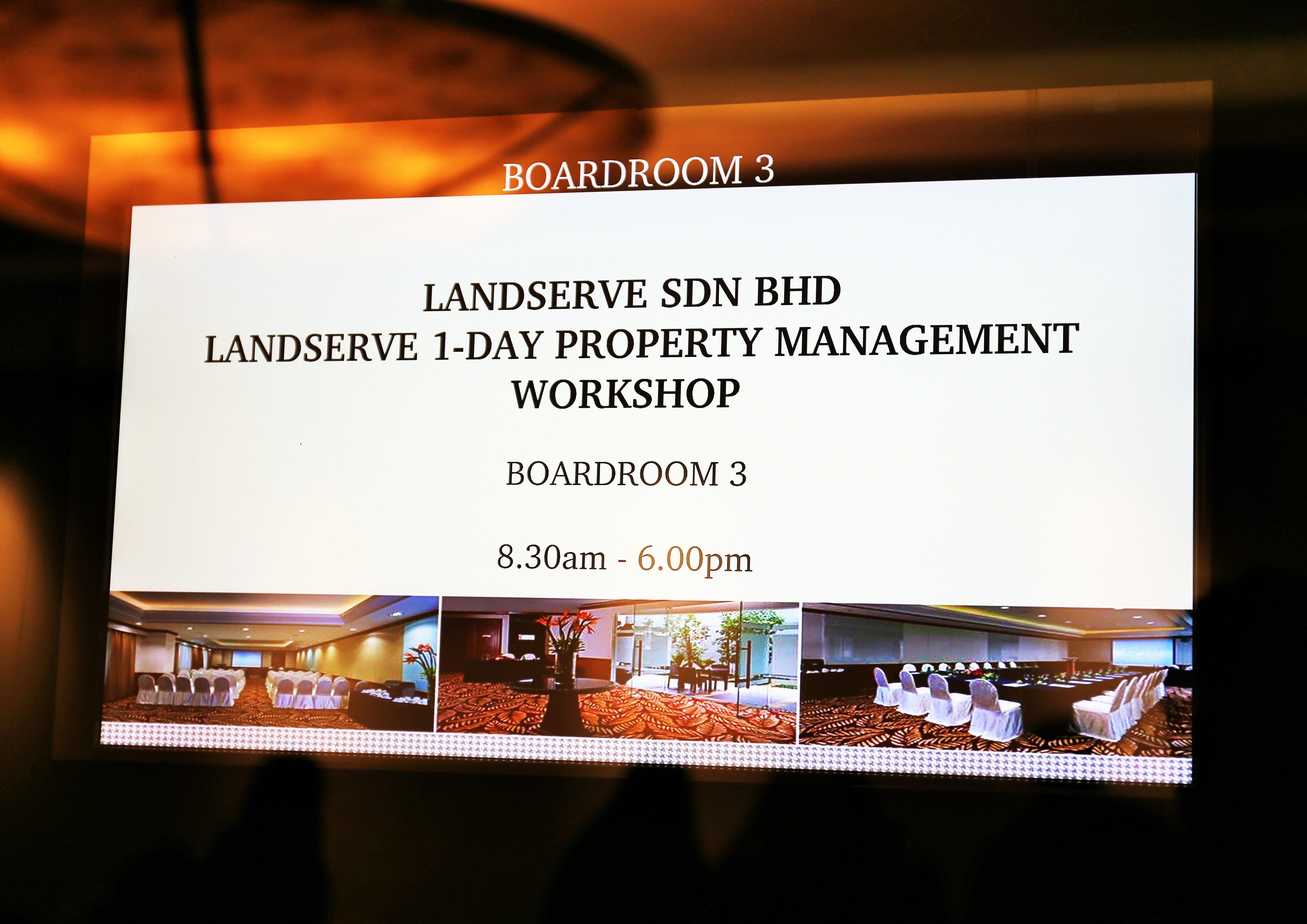 LandServe 1-Day Property Management Workshop